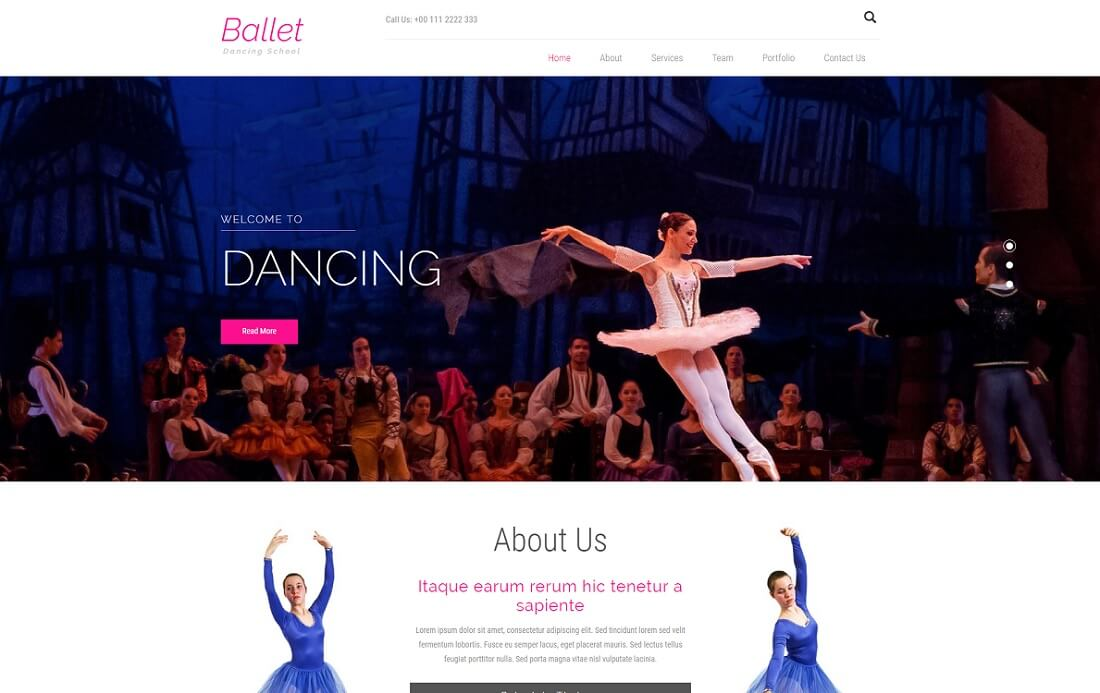 ballet-free-event-website-template